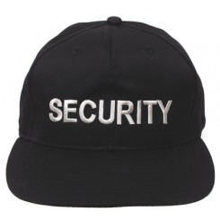 Kasket, broderet: SECURITY
