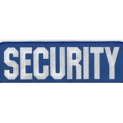 """Stofmærke """"SECURITY"""" Rygmærke blå/refleks"""