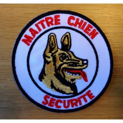 "Stofmærke ""Maitre Chien"" (Schæfer/Rottweiler)"