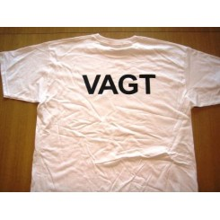 """T-shirt """"VAGT"""". Hvid."""