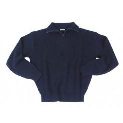 Sweater m. lynlåskrave